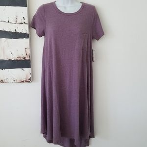 Lularoe carly dress heathered purple XS new NWT